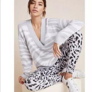 Varley Calvert Sweater in Gray Zebra